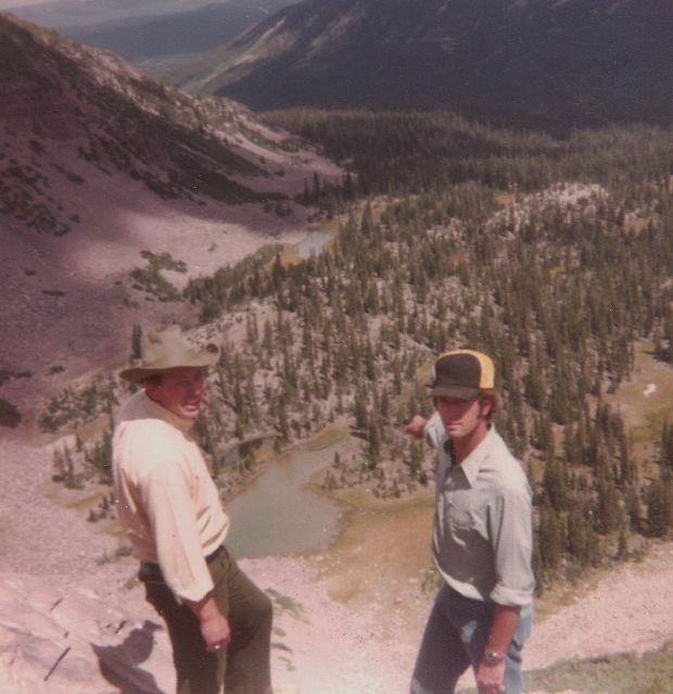 Jay Barker and Larry Beeson point to the location where they saw Bigfoot - Photo by Jay Barker